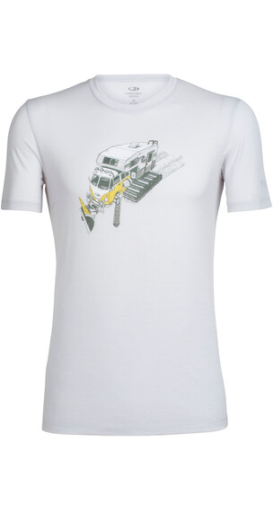 Icebreaker Tech Lite SS Crewe Shirt Men snow bug pearl